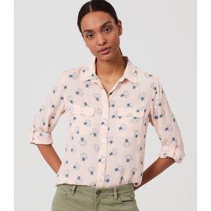 LOFT Lotus Print Button Down Shirt